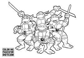printable ninja turtles coloring pages