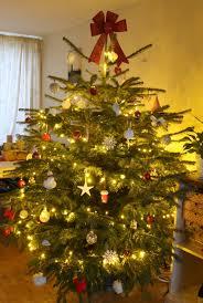 real decorated christmas tree christmas lights decoration