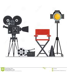 cartoon film video free download film set director chair stock vector illustration of chair 83960869