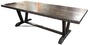 Metal Base For Trestle Table Solid Wood Dining Table Tops by Bradley U0027s Furniture Etc Utah Rustic Dining Table Sets