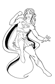 Superheros Coloring Pages Page 5 Of 7 Got Coloring Pages Batgirl And Supergirl Coloring Pages Printable