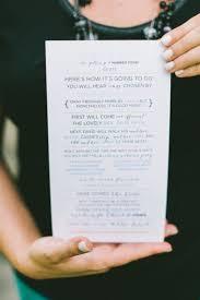 wedding ceremony program ideas 8 wedding ceremony program ideas every last detail