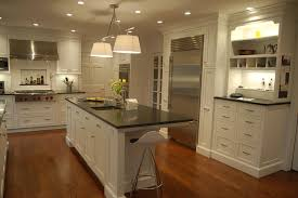 traditional kitchen colors white island chrome finished pendant