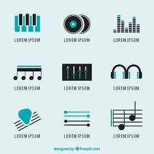 imagenes logos musicales logotipos musicales paquete descargar vectores premium