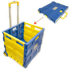 box cart toolzone extra large folding storage cart trolley 35kg capacity by