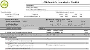 leed for homes checklist ecohome
