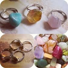 make rings images Fast and easy rock stone rings how to make a gemstone ring jpg