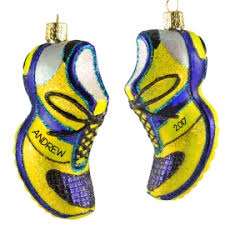 running shoe glass ornament personalized ornaments for you