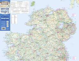 Dublin Ireland Map Collins Pocket Map Ireland Amazon Co Uk Collins Maps