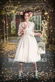 sle sale wedding dresses 2015 vintage ivory lace ankle length cap sleeve wedding dresses
