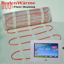 underfloor heating mat 200w m thermostat all sizes