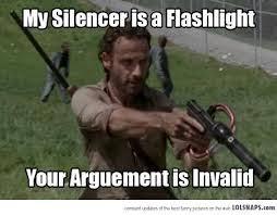 Dead Meme - the walking dead meme your arguement is invalid by