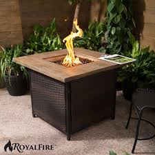 natural gas outdoor patio heater royal fire square rattan gas outdoor patio heater firepit ebay