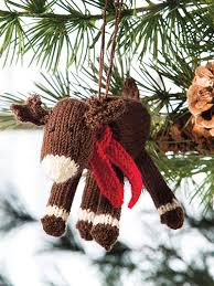 knitted reindeer ornament from deck the halls 20 knitted