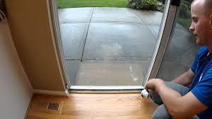 used sliding glass doors diy sliding glass door youtube