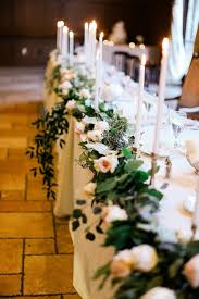 image result for table greenery garland draping flowers
