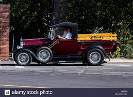 Vintage Ford Pickup Truck - a 1932 ford pickup truck rod stock photo royalty free image