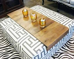 Ottoman Tray Ottoman Wrap Tray Reclaimed Wood Drink Rest Table For Sofa