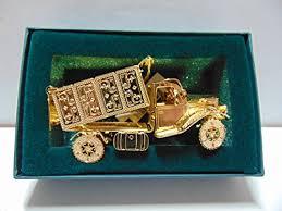 baldwin dump truck ornament brass with 24k gold overlay