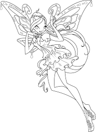 Winx Club Stella Butterflix Coloring Pages New coloring pages Winx