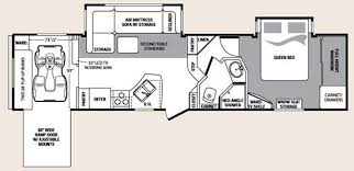 Toy Hauler Floor Plans 5th Wheel 2 Bathroom With Ramp Floor Plans Used Fifth Wheels In