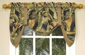 la selva tropical print tie up valance thomasville