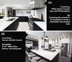 what color backsplash with white quartz countertops 8 beautiful kitchen countertop backsplash combinations