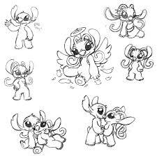 stitch angel sketches miriamthebat deviantart