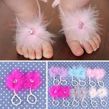 baby girl rings images Flower sandals simulated fur anklets newborn for baby girls foot jpg
