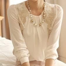 new fashion women long sleeve vintage sheer tops lace shirt