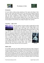stages of a river plan text and worksheet by
