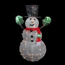 outdoor decor 54inch glitter mesh lighted snowman