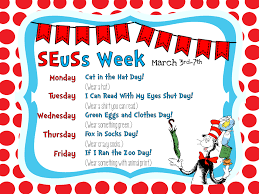 this is a week of activities for dr seuss birthday dr seuss