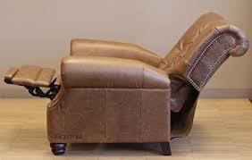 barcalounger phoenix ii leather recliner saddle leather espresso