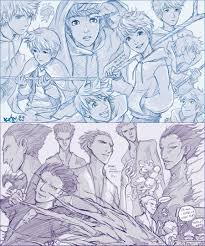 rise of the guardians jack and pitch sketches by kaira hiwatari