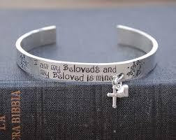 Personalized Bangle Bracelets Handstamped Personalized Bangle Bracelet Cuff With Charms