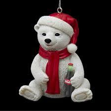 3 adorable resin coca cola polar bear cub decorative christmas