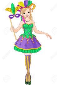 beautiful mardi gras masks illustration of beautiful mardi gras girl holding mask royalty