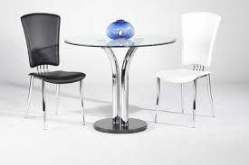 Blue And White Dining Chairs by White Or Black Leather Dining Chairs With Chrome Legs And High