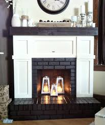 How To Decorate A Non Working Fireplace Fireplace Makeover Covered Up Most Of The Brick With Board And