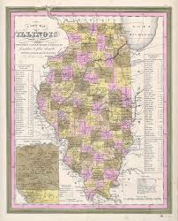 Map Of Illinois by Antique Maps Of Illinois