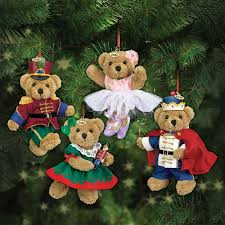 Teddy Bear Christmas Tree Decorations by The Nutcracker 2016 Teddy Bear Ornaments The Danbury Mint