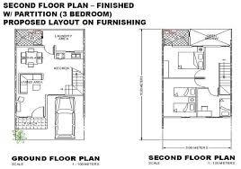 three bedroom ground floor plan cebu prime homes