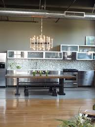 Industrial And Rustic Designs Resurfaced Kitchen Style Great Ideas Of Gold Finishes Open Shelves In