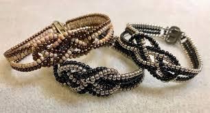 beaded ring bracelet images Beaded knot bracelet and ring tutorials the beading gem 39 s journal JPG