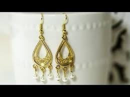 6 Beautiful Chandelier Earrings You How To Make Easy Chandelier Earrings Youtube