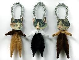 decor cat ornaments handmade tree