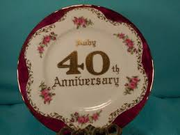 40th anniversary plates 40th anniversary gift vintage ruby anniversary gift plate made by