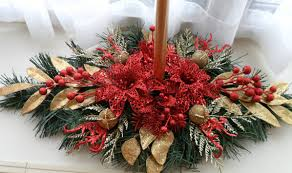 Gold Christmas Centerpieces - christmas centerpiece red u0026 gold christmas centerpiece