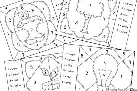 earth day color by numbers mini coloring pages simple fun for kids
